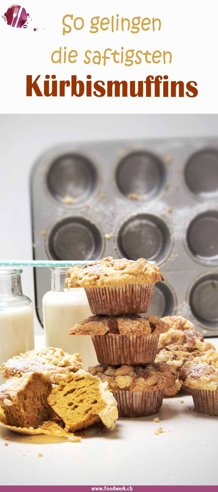 Diese Muffin mit Kürbis sind nicht nur gesünder als die normalen Muffin sondern auch noch besonders saftig. Mit diesem Rezept gelingen euch die saftigen Kürbismuffin garantiert. Mit den Streuseln haben sie noch einen super Crunch.