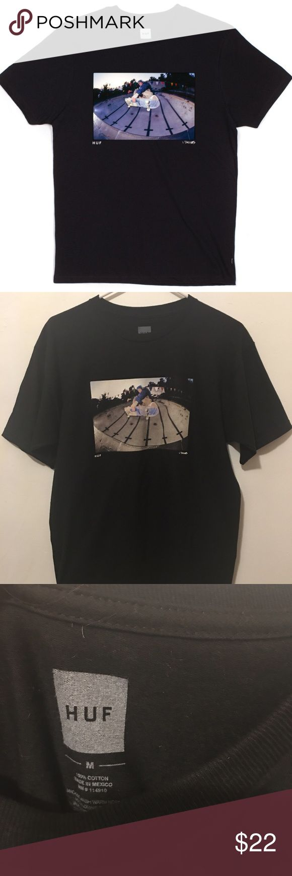 New HUF x Lance Dawes black tee shirt M New HUF x Lance Dawes Ben Liversedge black skate tee shirt.   Men's size Medium  Color: black HUF Shirts Tees - Short Sleeve