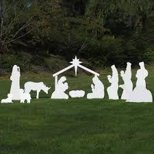 Image result for homemade outdoor nativity scene