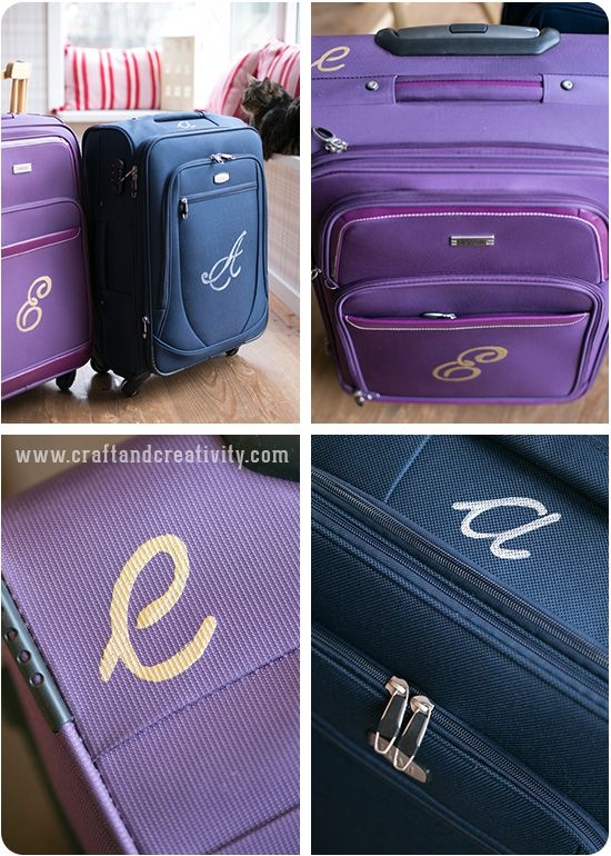 Monogrammed luggage: Great way to keep track of your luggage