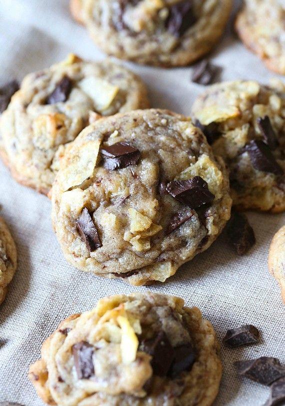 Kettle Chip Chocolate Chunk Cookies...Oooey gooey, salty and sweet!