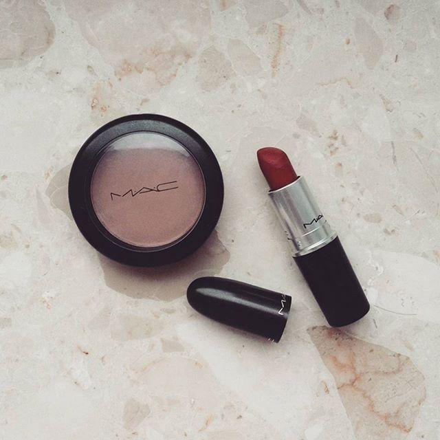 #motd #makeup #makeupoftheday #blog #bblogger #beauty #maccosmetics @maccosmetics @maccouture @macjunkies #macrussianred #maclipstick #russianred #macblush #macharmony #harmony