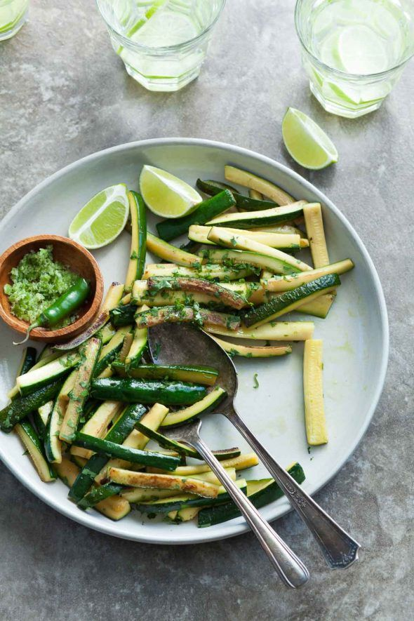 Sautéed Chili Lime Zucchini – Tender sautéed zucchini is brightened with cilantro and chili lime salt. Side Dish Recipes, Vegetable Recipes, Side Dishes, Vegetarian Recipes, Dinner Recipes, Healthy Recipes, Dinner Ideas, Sauteed Zucchini, Zucchini Noodles