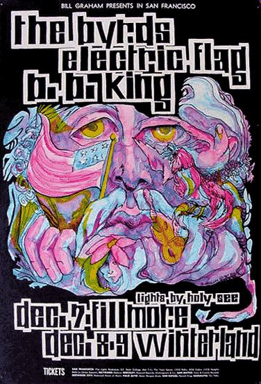 The Byrds and B B King at the Fillmore 1967.  by Bonnie MacLean
