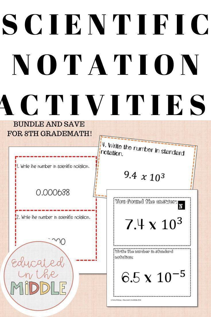 Scientific Notation Activities Scientific Notation Activities Scientific Notation 8th Grade Math [ 1102 x 735 Pixel ]