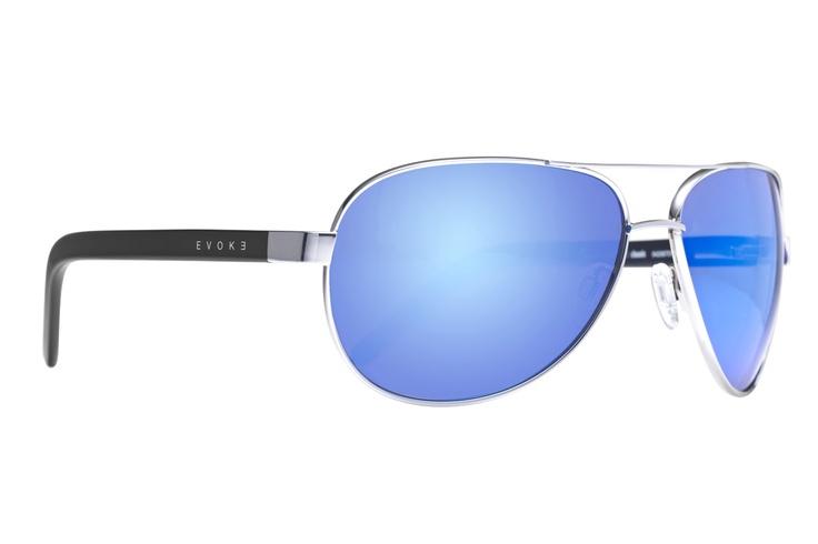 Evoke Poncherello Blue Mirror. Estilo clássico aviador com lentes azuis levemente espelhadas. Feito à mão na Itália. / Classic aviator style with blue slightly mirrored lenses. Handmade in Italy. http://ow.ly/aVOur