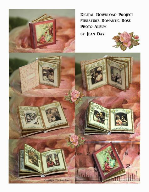 JDayMinis, Life, Antique Inspiration, Freebies: Romantic Rose mini Album digital project and other new digital downloads