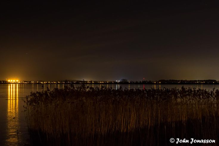 Reflections in Hammer lake at night.