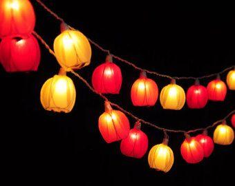 Best Flower String Fairy Lights Images On Pinterest Decor - Flower string lights for bedroom