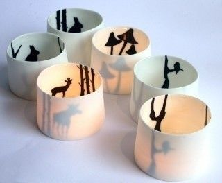 Silhouette tealight holder