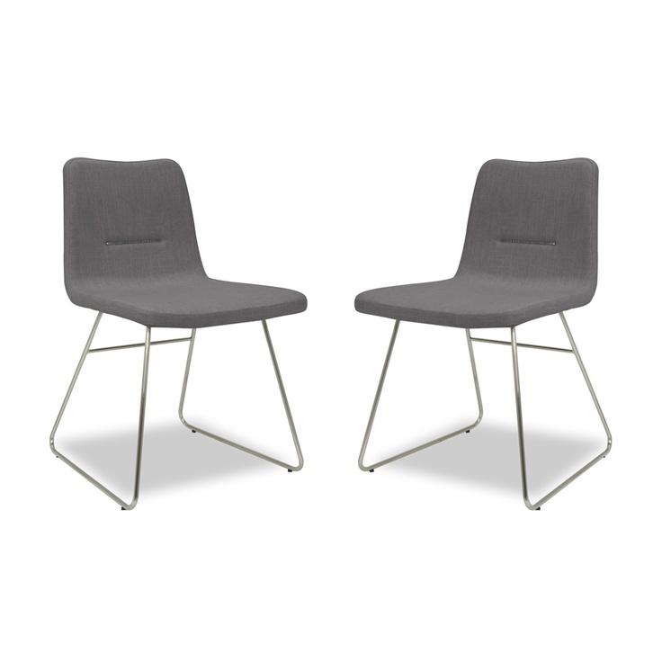 Set van 2 stoelen Vio Bar grijs voordelig online bestellen - FASHION FOR HOME