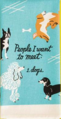 People I Want to Meet: Dogs -- Dish Towel in Blue – The Bullish Store