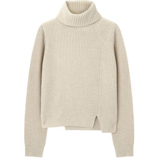 Proenza Schouler Beige high neck wool blend jumper found on Polyvore