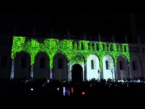 3D digital mapping by Limelight Projections on Cathedral of Pecs, Hungary with choir music- Fényfestés a pécsi Bazilikán - Pécs Cantat 2010 (2010.08.21.)