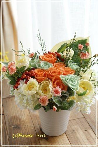 【今日の贈花】大好きなおばあちゃまへ贈る元気色♪|
