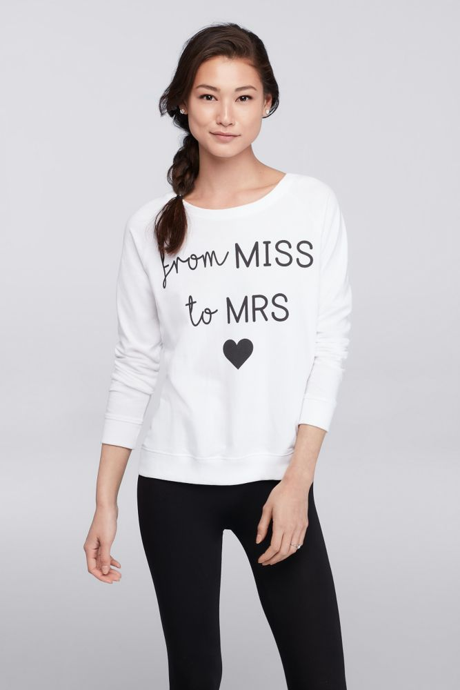 From Miss to Mrs Sweatshirt - White, L
