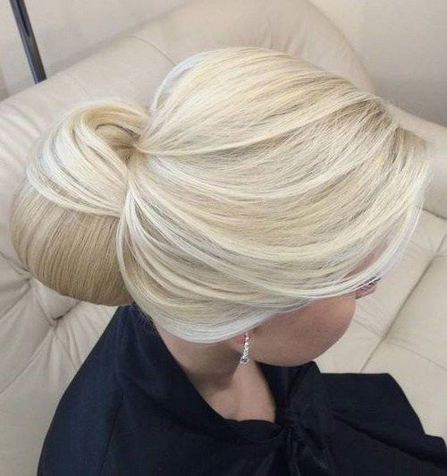 Blonde Formal Chignon Updo