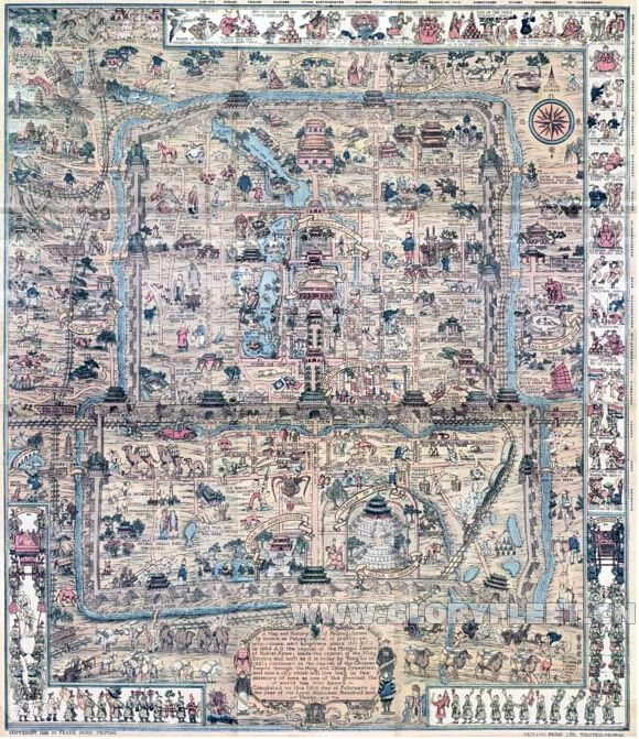 1936-traditional-China-BEIJING-plat-Old-Beijinger-Maps-English-and-Chinese-Map-tea-house-wall-decoration.jpg (580×671)
