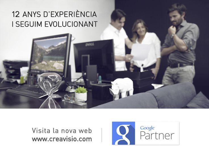 12 anys d'experiència i seguim evolucionant! Visita la nova web: http://www.creavisio.com/ Única agència d'Andorra a obtenir la certificació oficial Google Partner (Adwords) Veure la certificació: http://goo.gl/m87dbc Què és un Google Partner > https://www.google.cat/partners
