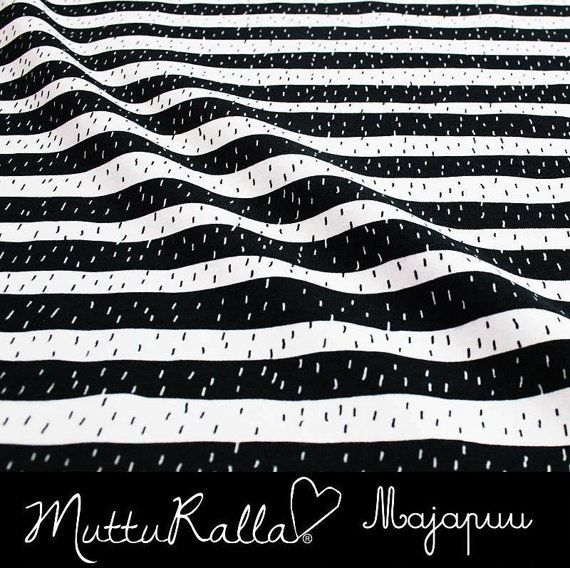 Black Stripe by Annika Nykänen Soft and stretchy Organic jersey for Majapuu Oy. Super stylish, these are such cute fabrics for little people -