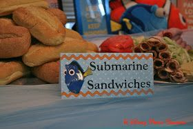 A Disney Mom's Thoughts: Finding Nemo First Birthday Party Food