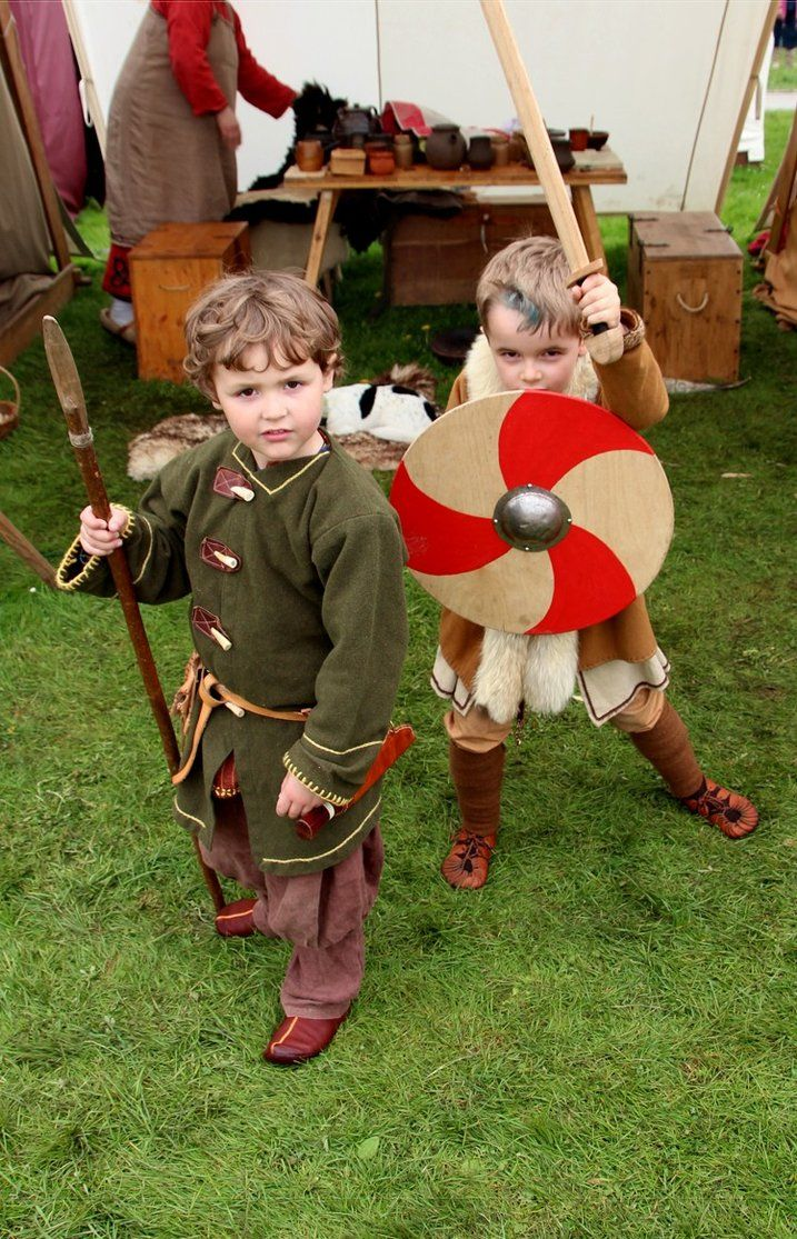 """Cute viking children """"Got a problem?"""" by ~DarkSunTattoo"""