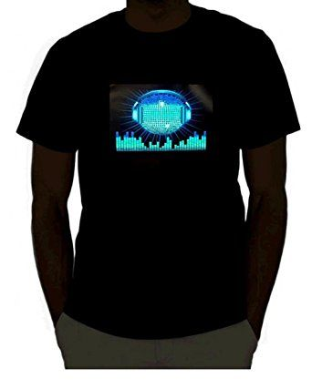 EmazingLights DJ Disco Ball With Headphones Sound Activated Light Up Rave Shirt #tshirt #led #clothes #technology #light #up