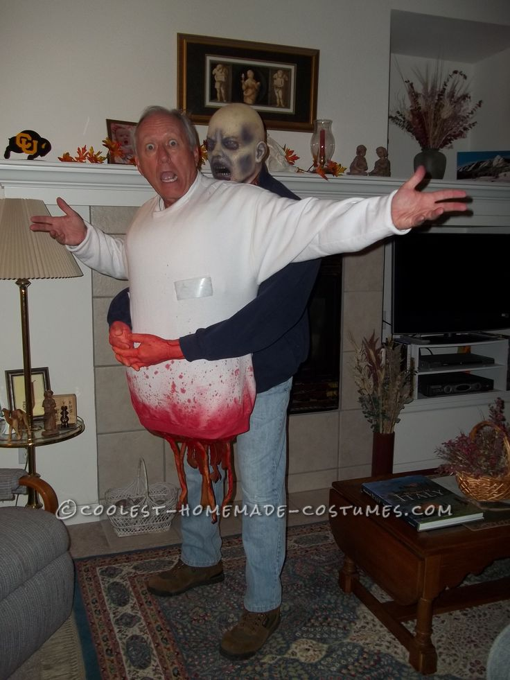 frightening diy zombie victim illusion costume - Scary Homemade Halloween Decorations