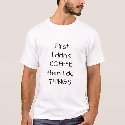 Men's tshirt Coffee design