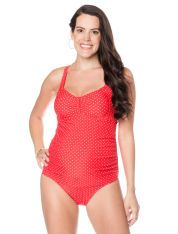 Cross Back Maternity One Piece Swimsuit
