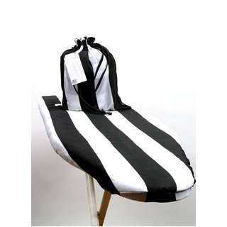 The Laundress: Ironing Board Cover & Bag in black and white stripes design