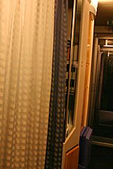 Trem noturno na Alemanha