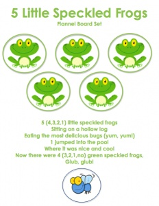 speckled frogs..my kids love this song.
