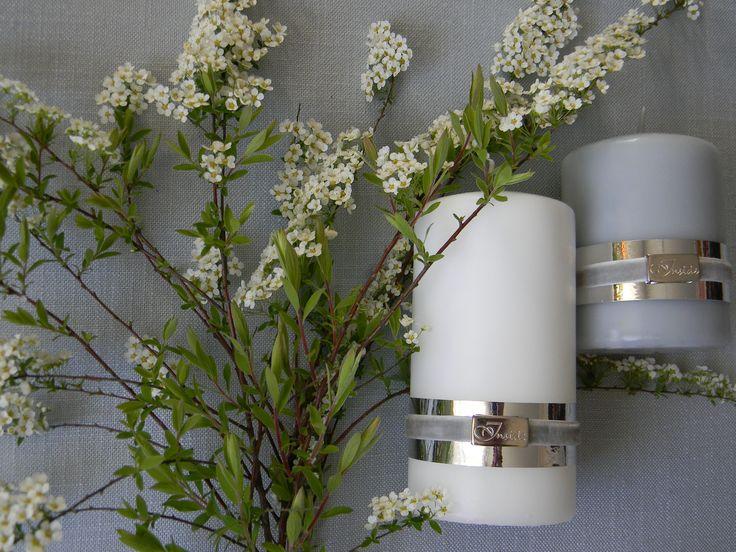 Wiosna nas nie rozpieszcza, ale tawuła kwitnie... razem z tawułą kwitną nasze świece :) Trzymajcie się cieplutko :)