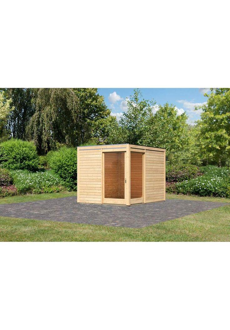 KARIBU Gartenhaus »Cubus Eck 1«, BxT: 260x320 cm, Gartenhaus »Cubus Eck 1«, BxT: 260 x 320 cm, Wandstärke: 28 mm