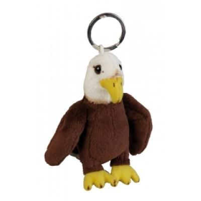 Image of Promotional Eagle Keyring. 10 cm Fur Eagle Bird Key Ring