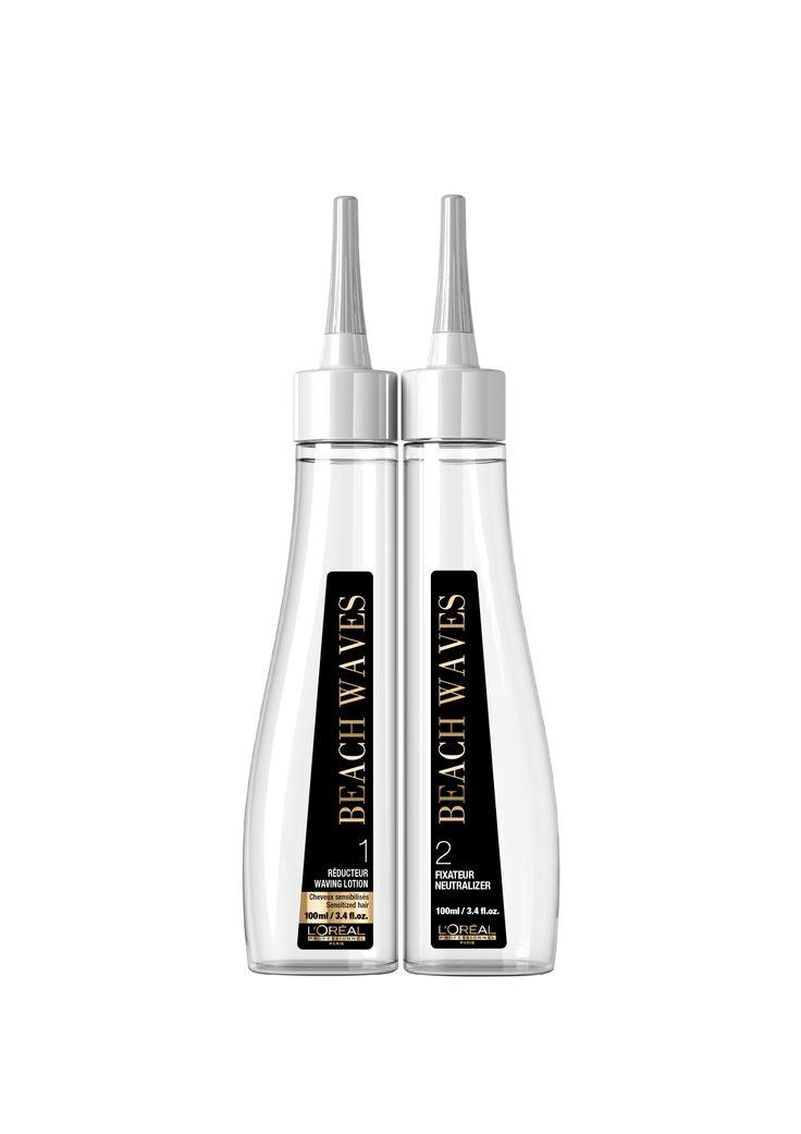 L'Oréal Professionnel Beach Waves In Salon for sensitized hair Pack (Waving Lotion 100ml + Neutralizer 100ml).