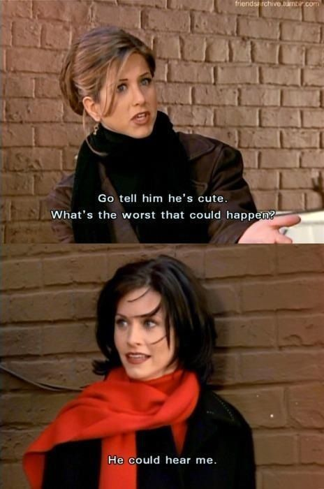 I'm Jen Anniston and Charles is Courtney cox