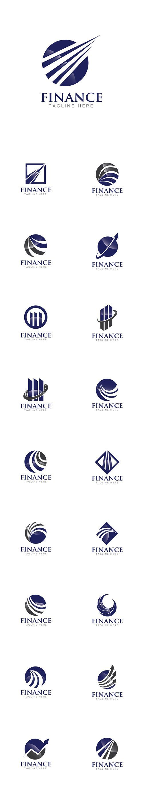 Vector Finance Concept Logo Design