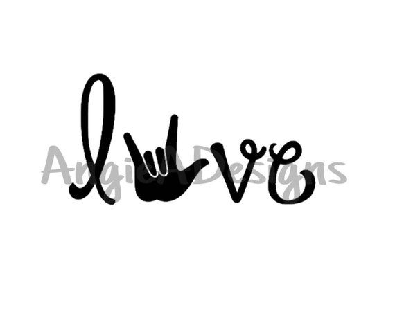 Download Love (word) - ASL I Love You Hand - SVG | Love yourself ...