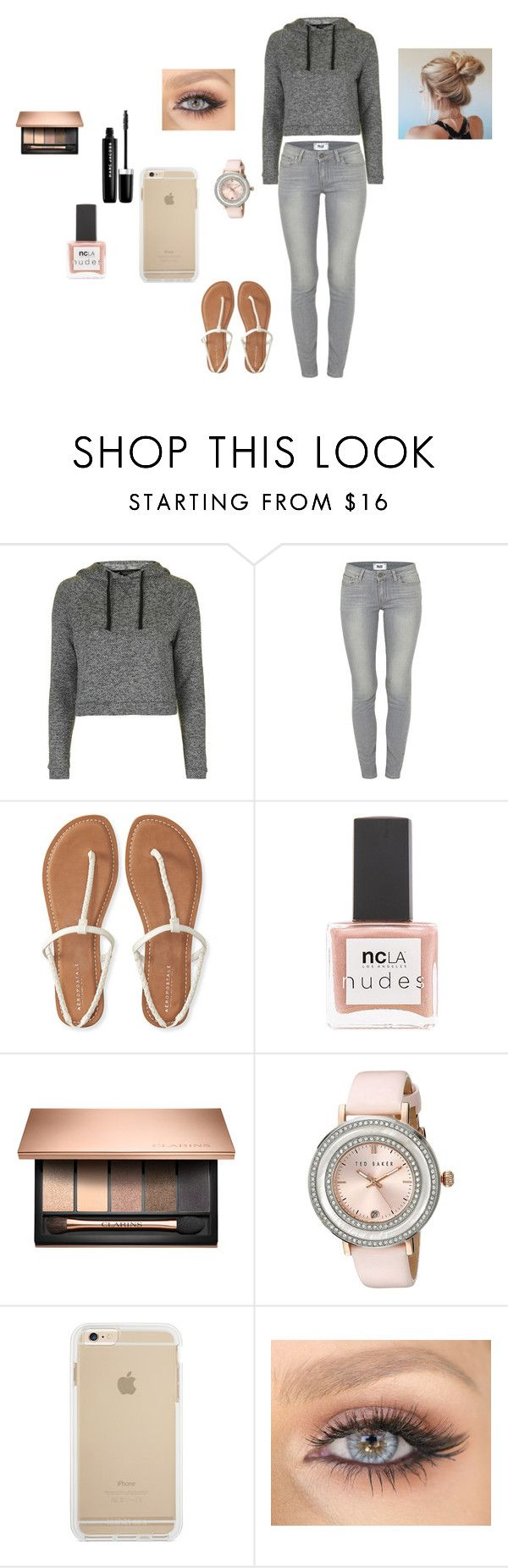 """""""eyuyu"""" by http-txmmi on Polyvore featuring Topshop, Paige Denim, Aéropostale, ncLA, Ted Baker and Marc Jacobs"""