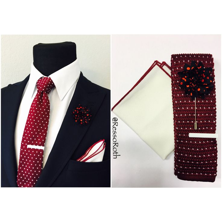 Mens Cotton Pocket Square - Red bandana by VIDA VIDA JtZHQ8Qhl1