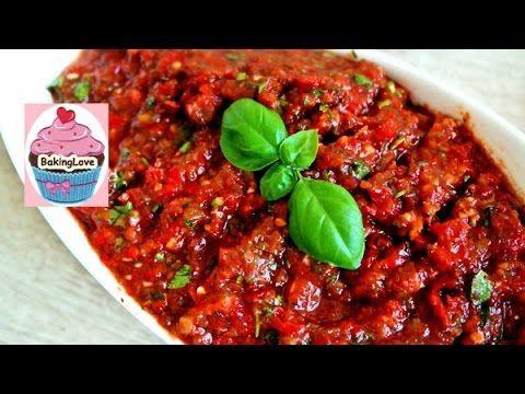 Acili ezme I scharfer Tomaten-Paprika Dip I Chili-Dip I mezze I türkisch...