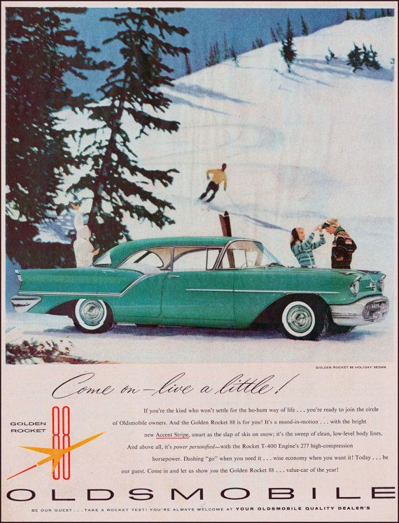 1957 Oldsmobile Golden Rocket Vintage Ad #Classic #Car #Ads #Old #Oldsmobile #Ads #1957