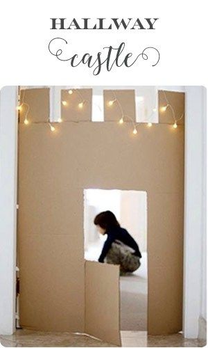 Cardboard hallways castle - a fun thing to do with your kids when it's cold outside! ♥ Little Girl's Pearls