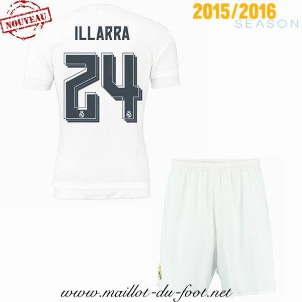 boutique Maillot de foot Real Madrid Enfant Illarra 24 Domicile 2015 2016 shop