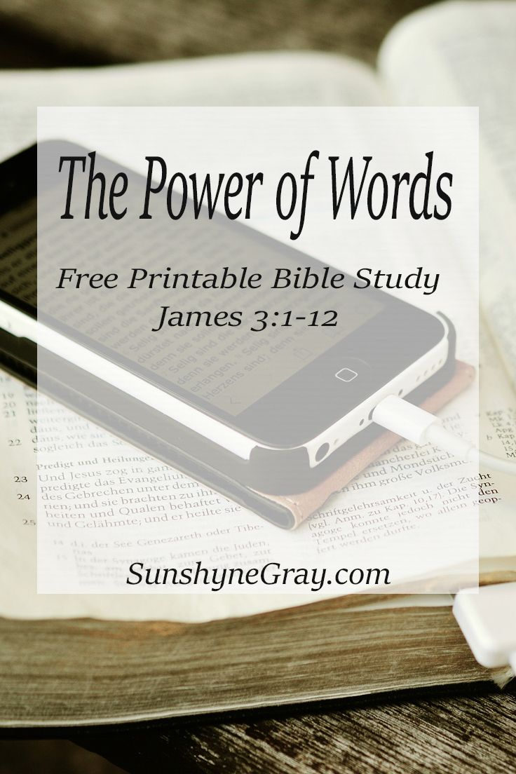photo regarding Printable Bible Study on James known as James 3:1-12 Bible Analysis\