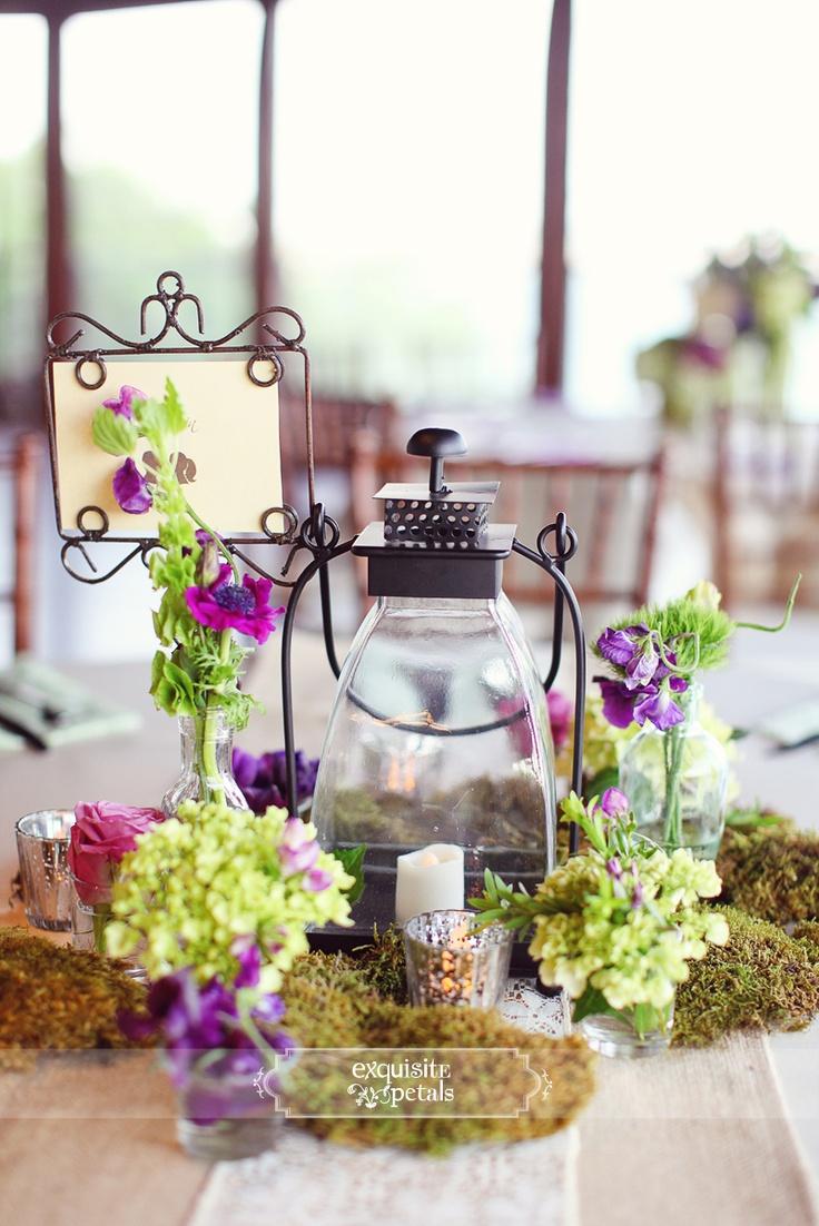 Lilac wedding decoration ideas   best  Centerpieces  images on Pinterest  Floral arrangements