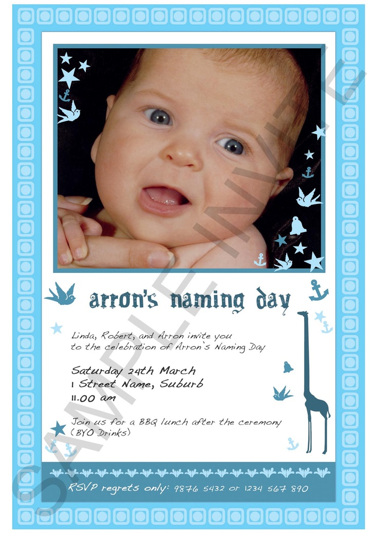 68 best Naming ceremony images on Pinterest Birthdays, First - naming ceremony invitation