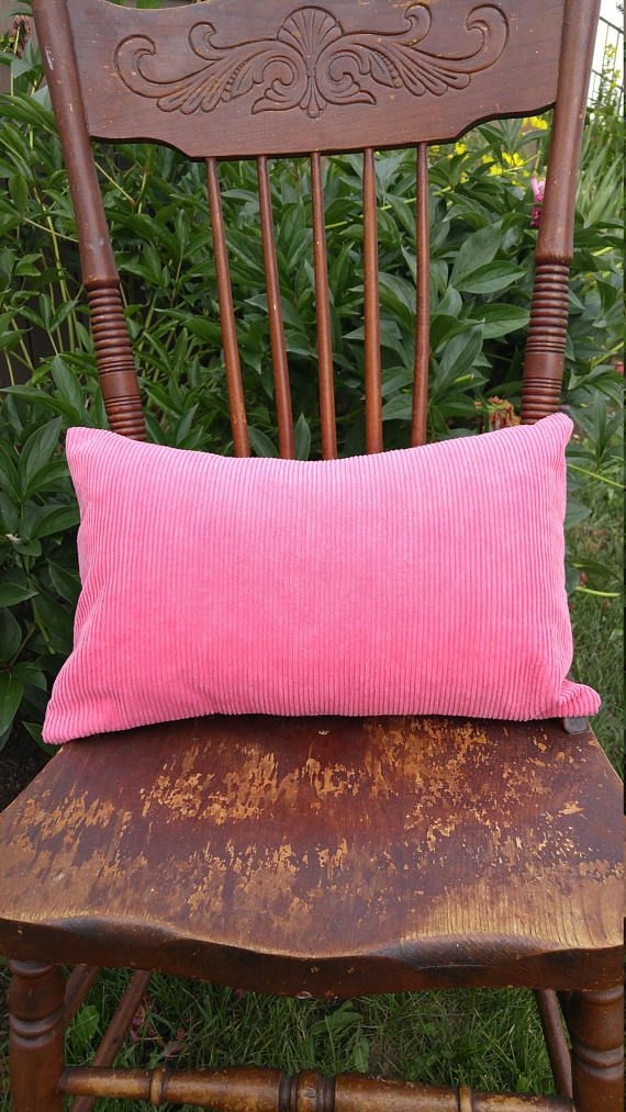 Hot Pink Corduroy Pillow Cover Deep Pink Textured Cushion